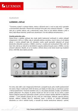 Audiodrom LUXMAN L