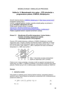 MODELOVANJE I SIMULACIJA PROCESA Vežba br. 5