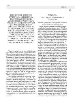 Poruke sa XIII Savetovanja Palić 2012