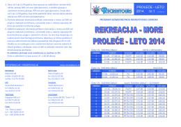 PROLEĆE - LETO 2014. br.1