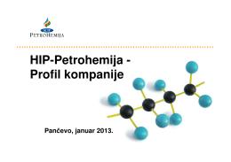 HIP-Petrohemija - Profil kompanije