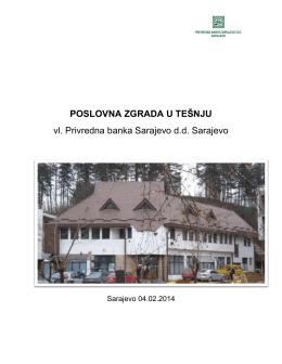 poslovna zgrada u tešnju - Privredna banka Sarajevo