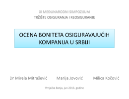 ocena boniteta osiguravajućih kompanija u srbiji