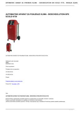 automatski aparat za punjenje klima - boschsolution