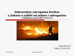 Dobrovoljna vatrogasna društva u Zakonu o zaštiti od požara i