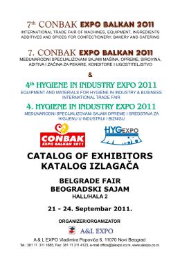 7th CONBAK EXPO BALKAN 2011 7. CONBAK EXPO BALKAN