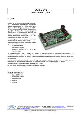 DCS-3010 Uputstvo za upotrebu