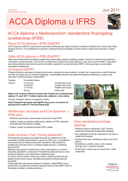 ACCA DipIFR - PwC Academy