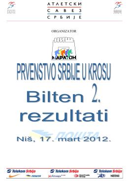 2. REZULTATI PRVENSTVA SRBIJE U KROSU, NMN, 17.03.2012.