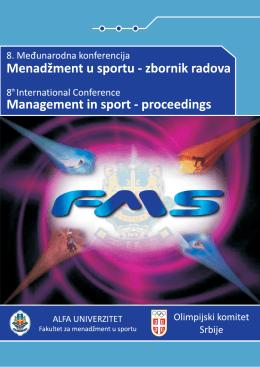 VIII Конференција - Факултет за менаџмент у спорту