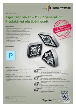 Tiger·tec® Silver – ISO P generation Produktivní obrábění oceli.
