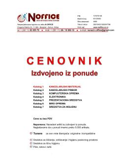 Katalog 1 – Kancelarijski materijal