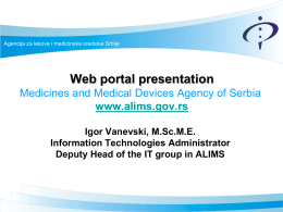 ALIMS Web portal - European Medicines Agency