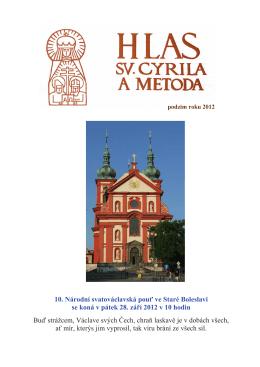 Hlas sv. Cyrila a Metoda - Podzim 2012