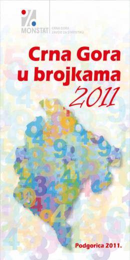 Crna Gora u brojkama 2011