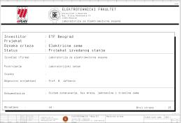 Tehnička dokumentacija laboratorijske postavke
