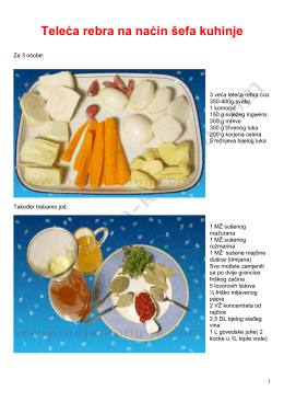 Pirjana teleća rebra recept by Kuhar - Moja