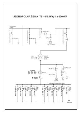 Jednopolna šema TS10-0,42 1x630-3