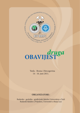 OBAVIJEST - Univerzitet u Tuzli