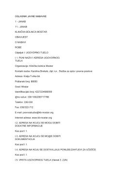 OGLASNIK JAVNE NABAVKE 1 - Agencija za javne nabavke