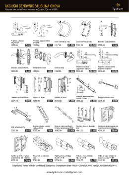Akcijski cenovnik Stublina okova u .pdf formatu