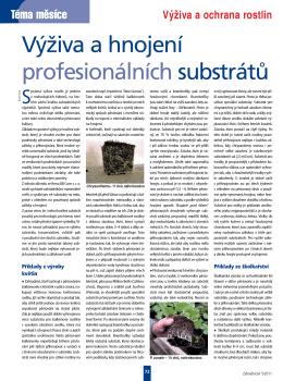 Výživa a hnojení profesionálních substrátů