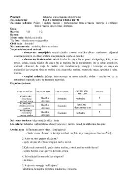 Predmet: Tehničko i informatičko obrazovanje
