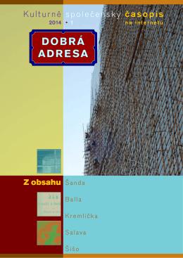 1 • 2014 - Dobrá adresa