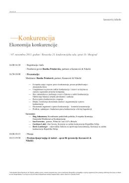 Agenda - Karanovic & Nikolic