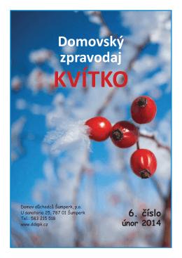 KVITKO c. 6 2014.indd - Domov důchodců Šumperk
