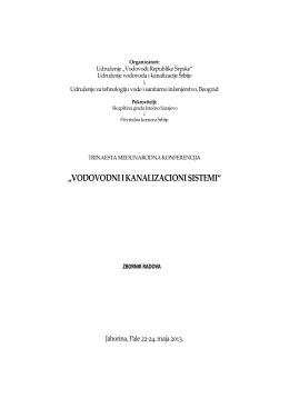 """""""VODOVODNI I KANALIZACIONI SISTEMI"""""""