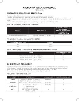Cjenovnik rezidencijalna prodaja 16.09.2014.