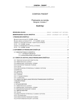 Revizorski izvestaj za 2008 godinu