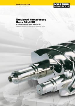 Šroubové kompresory Řada SX–HSD