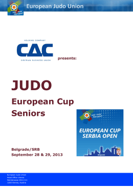 These details MUST be included in Cadet European Cup Outlines