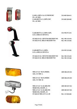 GAB.LAMPA SA GUMOM B/C 92 x 42 MM GABARITNA LAMPA B/C
