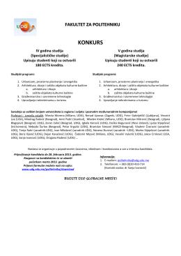 Konkurs Politehnika 2013/14