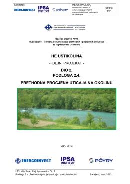 he ustikolina - Federalno ministarstvo okoliša i turizma