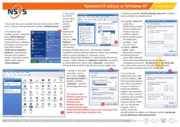 Jak nastavím IP adresu ve Windows XP? - N