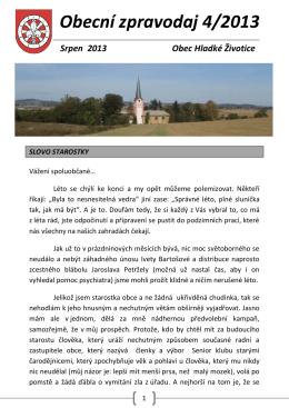 Obecní zpravodaj 4/2013