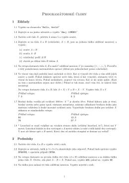 Příklady (PDF, 15.10.2011)
