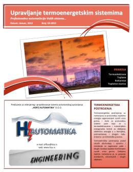 Upravljanje termoenergetskim postrojenjima