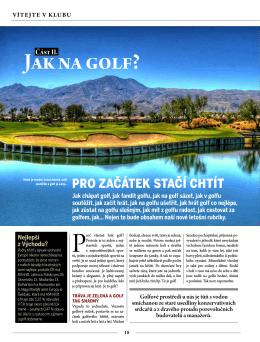 Jak na golf?