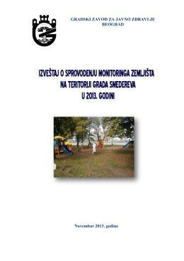 Ispitivanje zagađenosti zemljišta na teritoriji Smedereva u 2013. godini