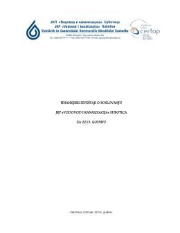 Finansijski izveštaj za 2013