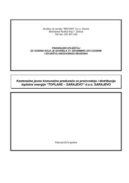 Izvještaj eksternog revizora