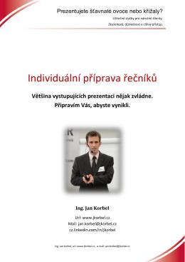 Individuální příprava řečníků