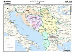 Mapa bivše Jugoslavije sa putevima (ENG)