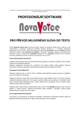 NovaVoice podrobně - Consulting Company Novasoft