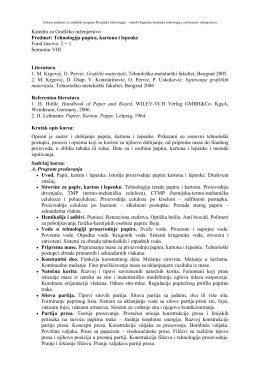 Tehnologija papira, kartona i lepenke.pdf - Tehnološko